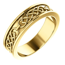 Yellow Gold Celtic-Inspired Band