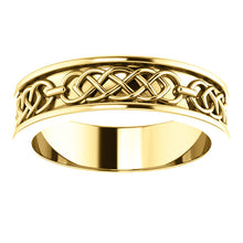 14K Yellow Gold 6 mm Celtic-Inspired Band