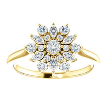 Yellow Gold Diamond Vintage-Inspired Ring