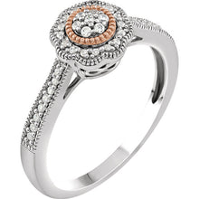 10K White & Rose 1/6 CTW Diamond Promise Stuller Ring, New item #652982