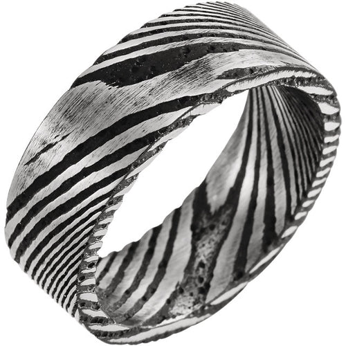 Damascus Steel 8 mm Comfort-Fit Band, New item #STST52076