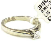 "Sterling Silver ""Platinaire"" .25CT Diamond Solitaire Ring 1.6 DWT #301083"