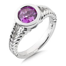 Colore Sg Sterling Silver Created Pink Sapphire Essentials Ring