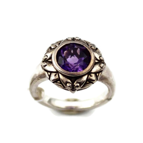 COLORE SG Amethyst Cairo Ring, New item #LVR468-AMA