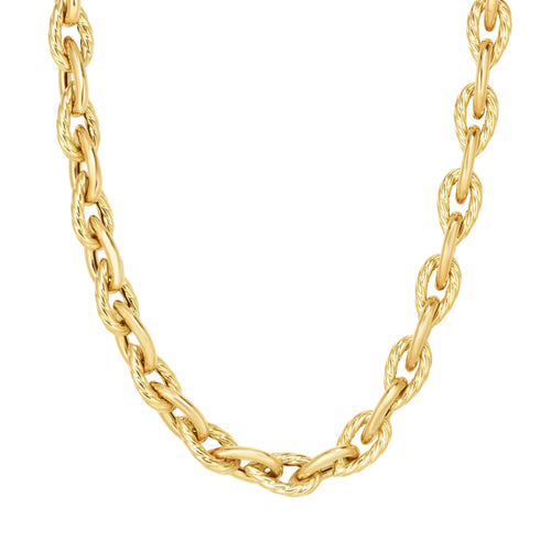 Phillip Gavriel 14KY Gold Extra Long 7.2mm Polished Pera Link Necklace 30.5
