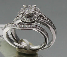 0.85CT Diamond Wedding Set, Round Cut Engagement Ring & Wedding Band 14KW sz 6.5 Pre-Owned #19872FVWG-.SA