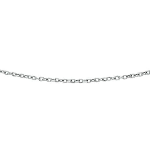 Solid 14k White Gold 3.5mm Diamond Cut Oval Texturedd Link Chain 20'' 4.3 grams, New item #WLK157-20 r