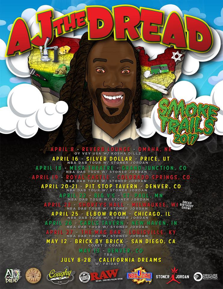 AJ The Dread | Tour Schedule