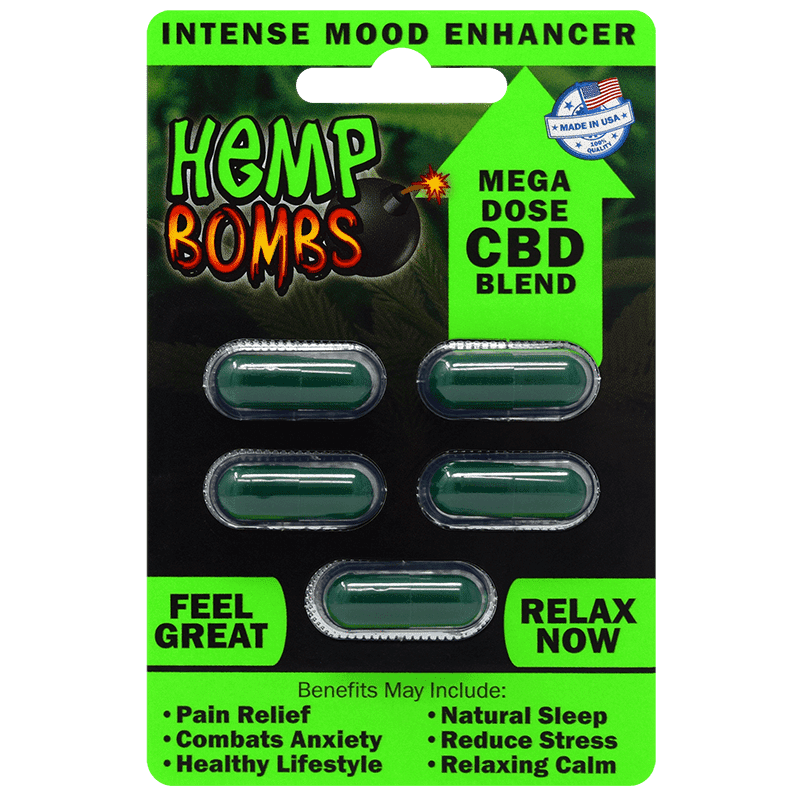 CBD Hemp Bombs Caps(5ct)