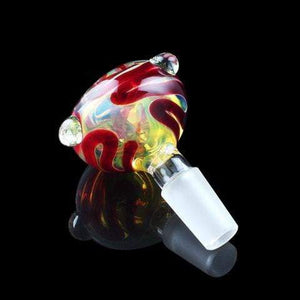 Extra Heavy Fumed with Crimson Cane Bowl - Coughy