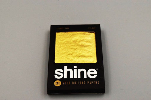 Shine 12pk 24k 1 1/4 Rolling Papers - Coughy