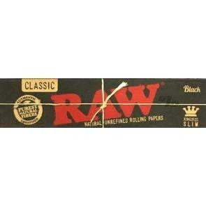 RAW Black Rolling Papers King Size- Coughy