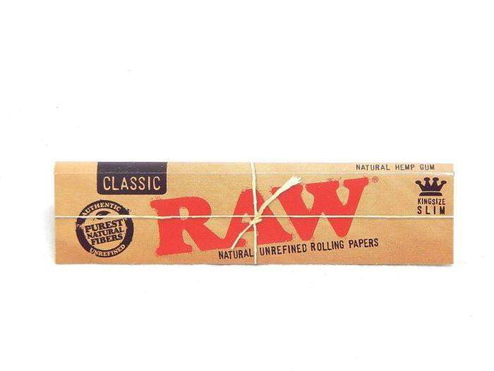 Raw Classic King Slim Rolling Papers - Coughy