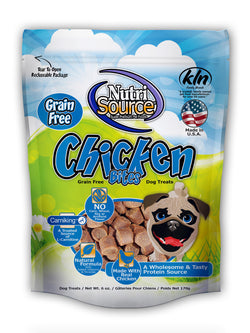 NutriSource Chicken Bites Grain Free Dog Treats, 6-oz bag