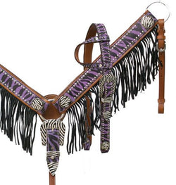 Showman ® Purple zebra fringe