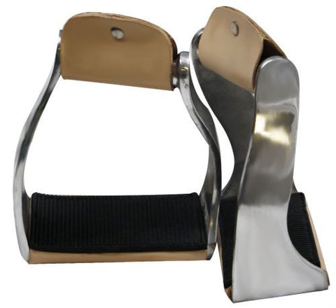 Showman™ Lightweight Twisted Angled Aluminum Stirrups with Wide Rubber Grip Tread SH175485