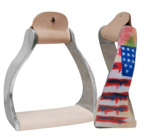 Showman ® Lightweight twisted angled American aluminum stirrups SH176115