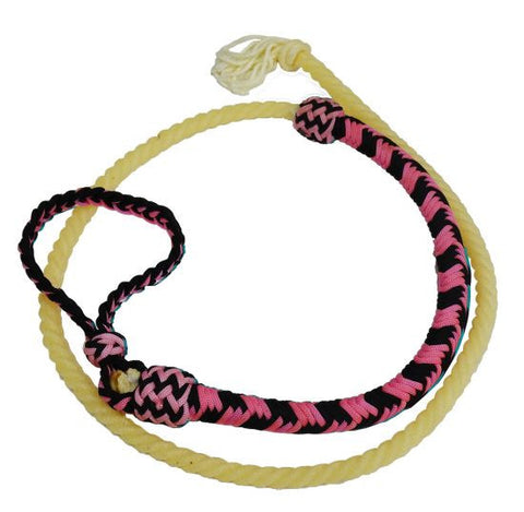 Showman ® 4.5ft Braided nylon Over & Under whip with lasso end