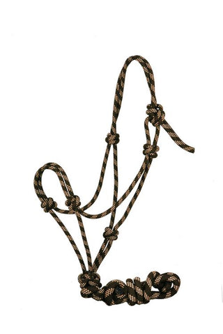 Showman™ horse size adjustable nylon cowboy knot halter with matching 7.5' lead SH4335