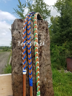 Custom Leather Laced Reins