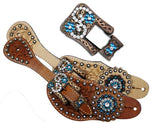Showman™ Ladies Tooled Leather Spur Straps  SH7134