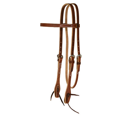 7141 ROSEWOOD HARNESS BROWBAND HEADSTALL
