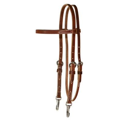 7142 ROSEWOOD HARNESS TRAINING BROWBAND HEADSTALL