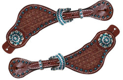 Showman ® Ladies Basket weave spur straps SH7191