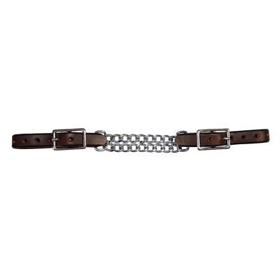 7800C: CURB CHAIN – CHOCOLATE DOUBLE FLAT LINK