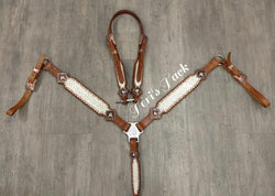 Custom Tack Set w/ plain conchos & matching witherstrap