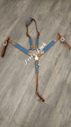 Custom  Browband Tack Set w/ plain conchos