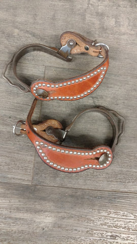 Used Youth spurs - Silver stud straps