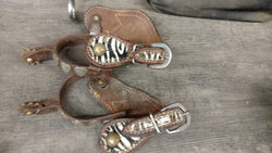 Used Youth spurs - Zebra straps