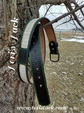 Custom Embossed belt with Inlay