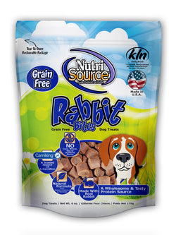 NutriSource Rabbit Bites Grain Free Dog Treats, 6-oz bag