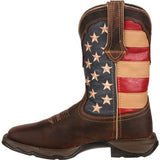 LADY REBEL BY DURANGO PATRIOTIC PULL-ON WESTERN FLAG BOOT