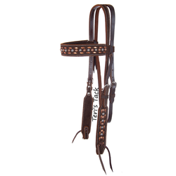 CHOCOLATE ROUGHOUT BROWBAND HEADSTALL X0118-210C