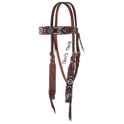 FLAT INFINITY BEADED BROWBAND HEADSTALL X0221-1004