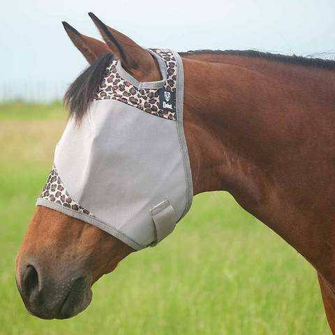 Patterned Cashel Crusaider Fly mask with ears