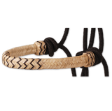 Braided Rawhide Rope Halter with Lead