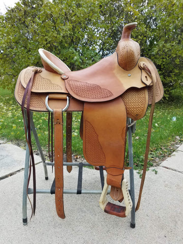 "Used Reichert 16"" ranch style saddle"