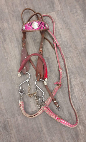 "Used Headstall with ""S"" Hack & barrel rein"