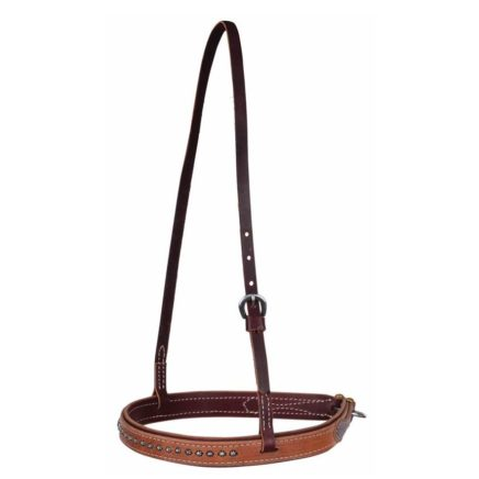 7774 ROSEWOOD HARNESS NOSEBAND WITH DOTS
