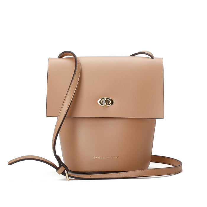 FULTON ST FLAP CROSS BODY CAMEL