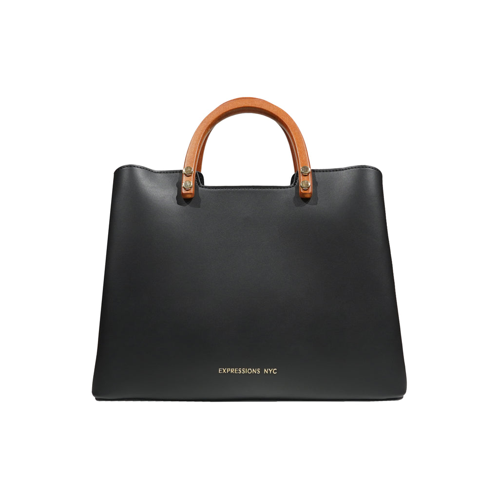 GREENWICH ST WOOD HANDLE SATCHEL