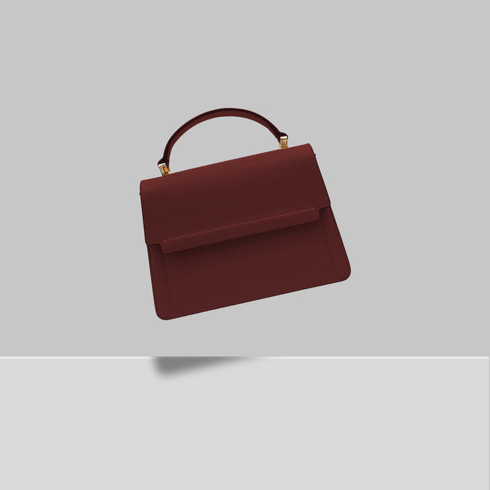 DOWNTOWN MINI SATCHEL BURGUNDY