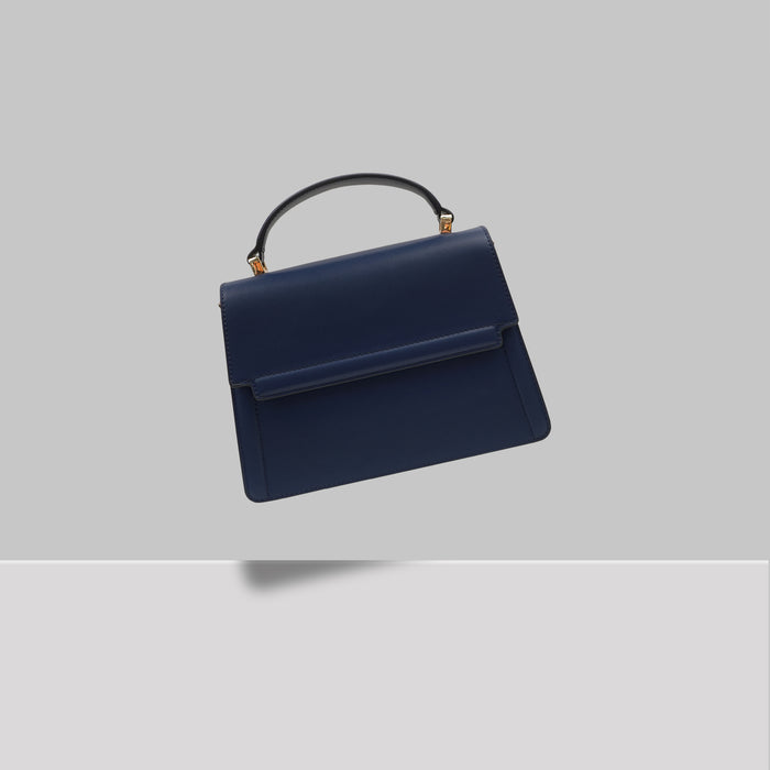 DOWNTOWN MINI SATCHEL NAVY