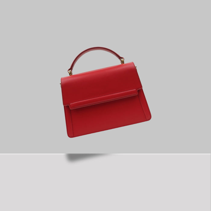 DOWNTOWN MINI SATCHEL RED