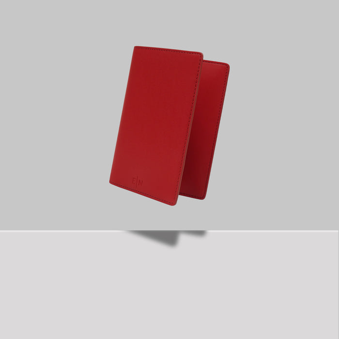 GRAND ST PASSPORT HOLDER RED