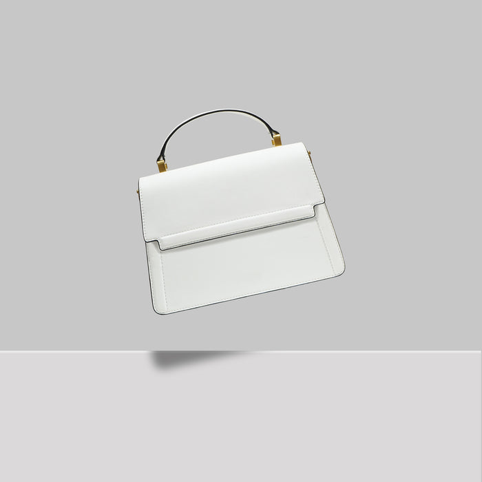 DOWNTOWN MINI SATCHEL WHITE